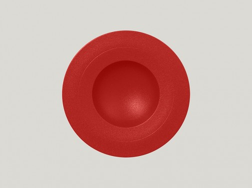 Tiefer Teller, 23 cm Ø, 22 cl, breiter Rand, rot Neo Fusion