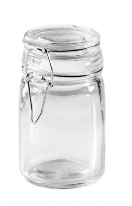 Mini Einmachglas rund D: 7 cm H: 11,5 cm, 0,25 l