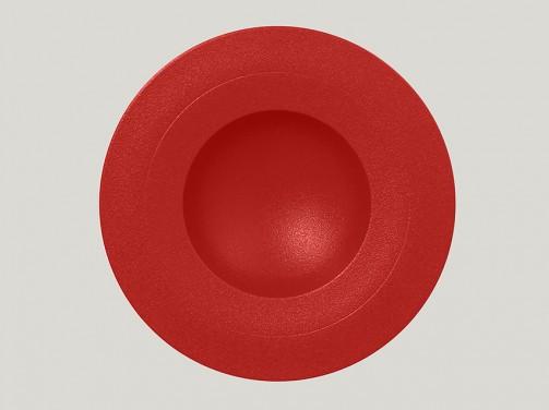 Tiefer Teller, 29 cm Ø, breiter Rand, rot Neo Fusion