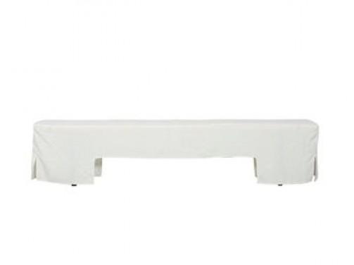 Bankhusse weiß, für Bank (Art.nr. 40051) 2,20 x 0,25 m
