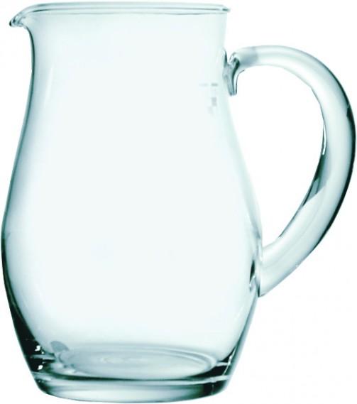Glaskaraffe,glatt, 1 l