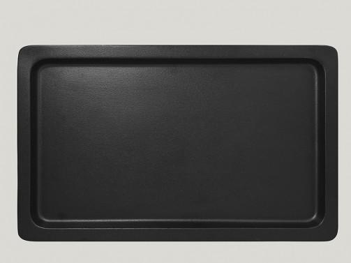 Gastronorm Behälter 1/1, 2 cm tief, Porzellan schwarz