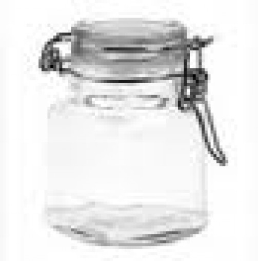 Mini Einmachglas viereckig D:6 cm H:8 cm, 0,12 l