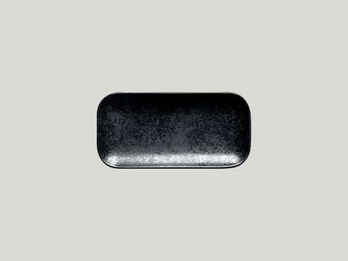 Rechteckiger Teller, 22 x 11 cm, Karbon