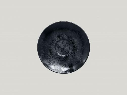 Untertasse, 17 cm Ø, für Kaffeetasse, 20 cl, Karbon