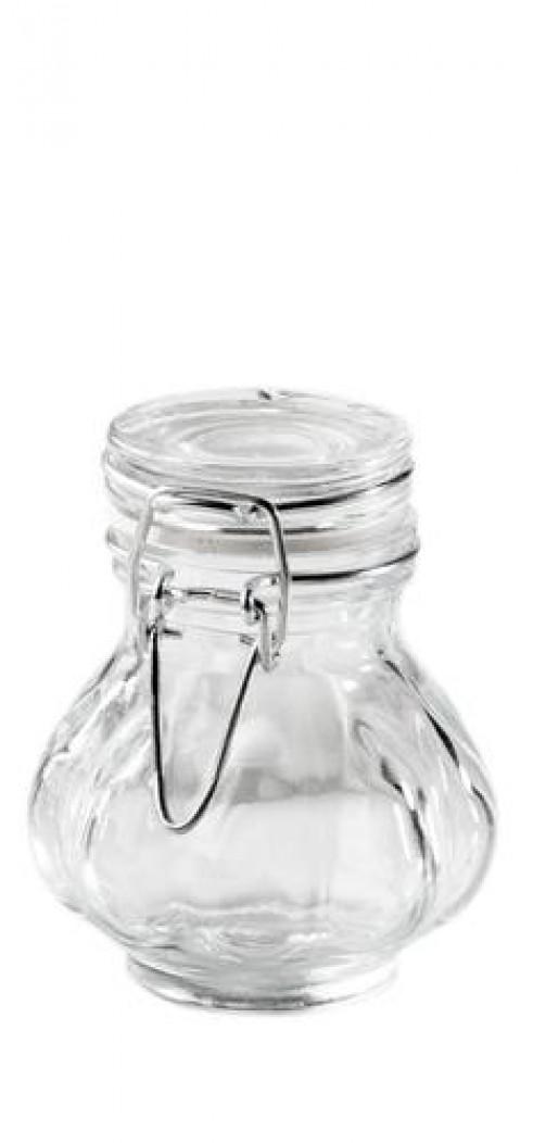 Mini Einmachglas bauchig glatt D: 6 cm H: 8,5 cm, 0,12 l