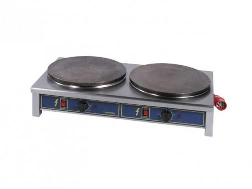 Doppelcrepesplatte, 2 Platten à 40 cm Ø, 400 V