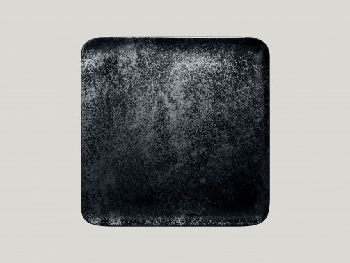 Quadratischer Teller, 27 x 27 cm, Karbon