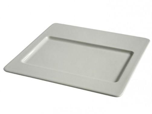 Quadratischer Teller, 30 x 30 cm, Sesam