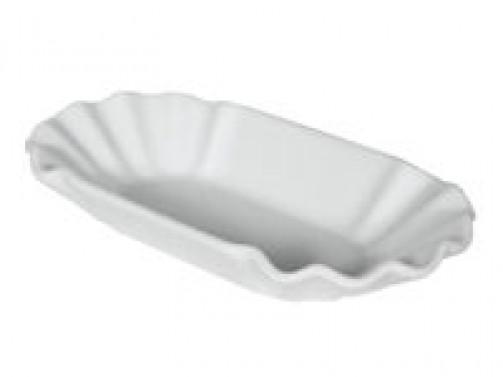 Pommesschale, 11 x 20cm, weiß