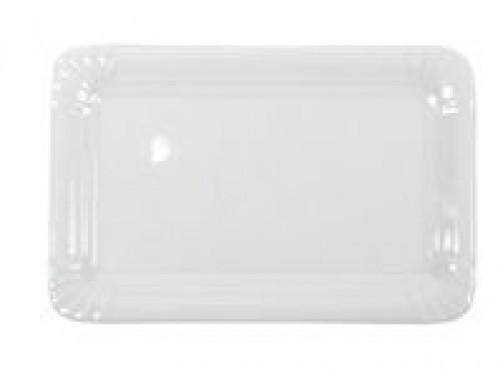 Frikadellenplatte, 13 x 20cm, weiß
