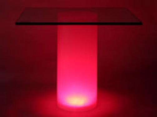 Acrylröhre satiniert mit Beleuchtung D:15 cm, H:36 cm