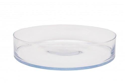 Runde Glasschale, 39 cm Ø, 8 cm hoch