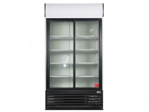 Kühlschrank, Glastür, mit 2 Schiebetüren, Umluft, 915 l